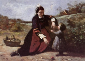 Jean-Baptist_Camille_Corot_Breton_Woman_With_Her_Little_Girl